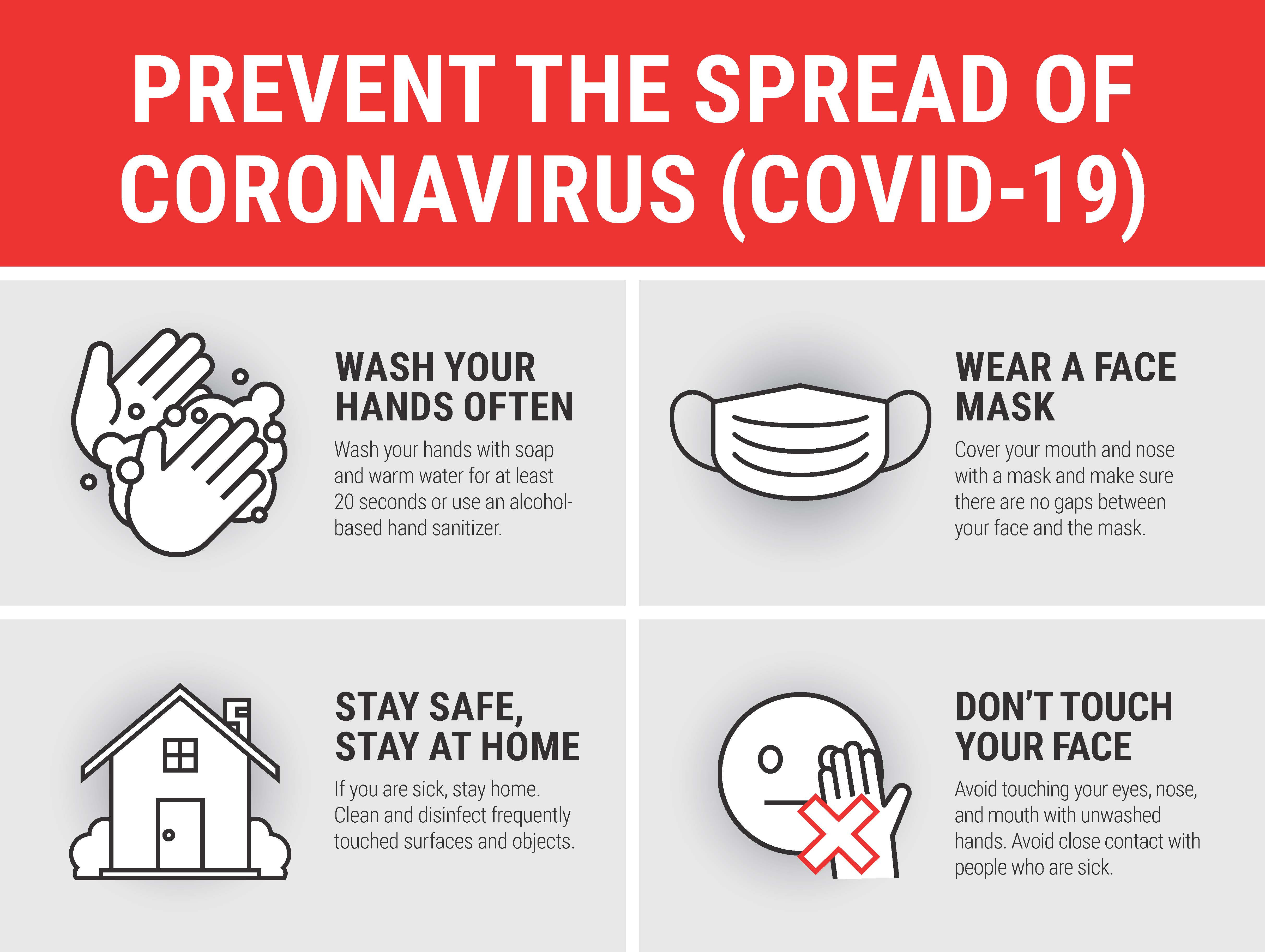 """24"""" x 18"""" Poster – """"Prevent the Spread"""" Tips"""