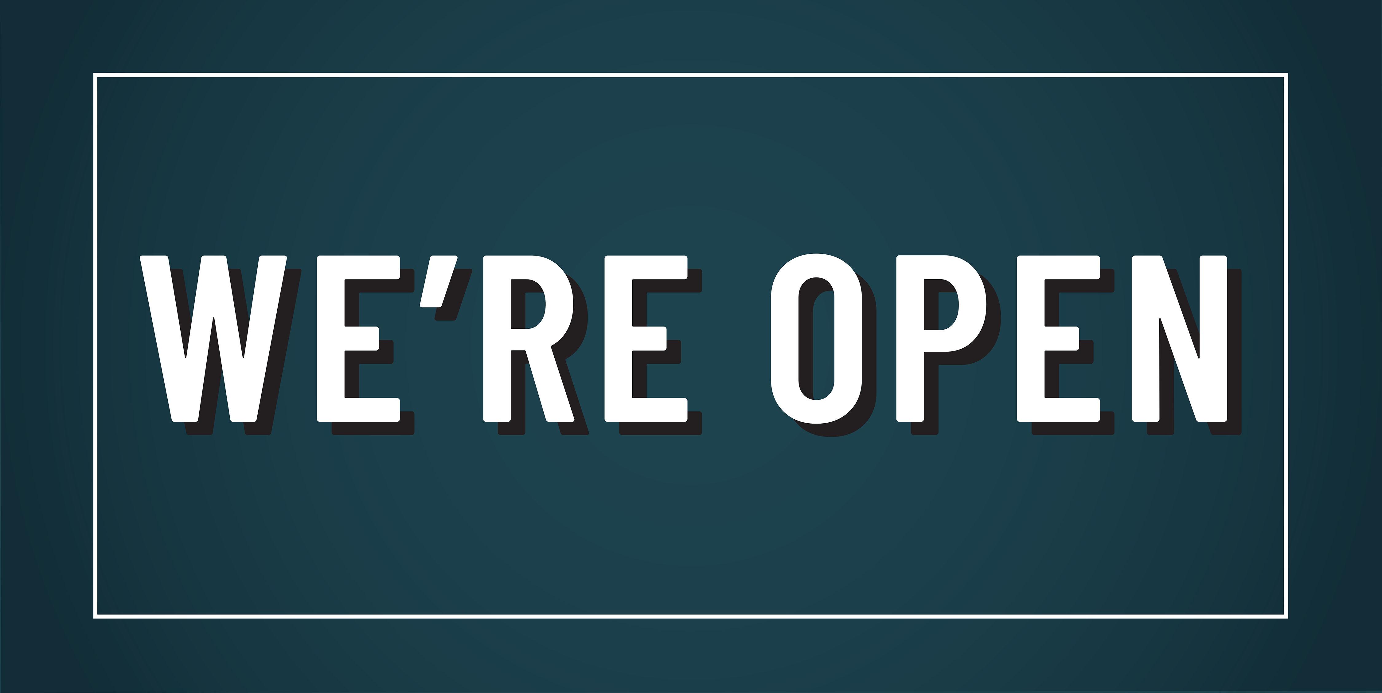 8' x 4' Banner – We're Open