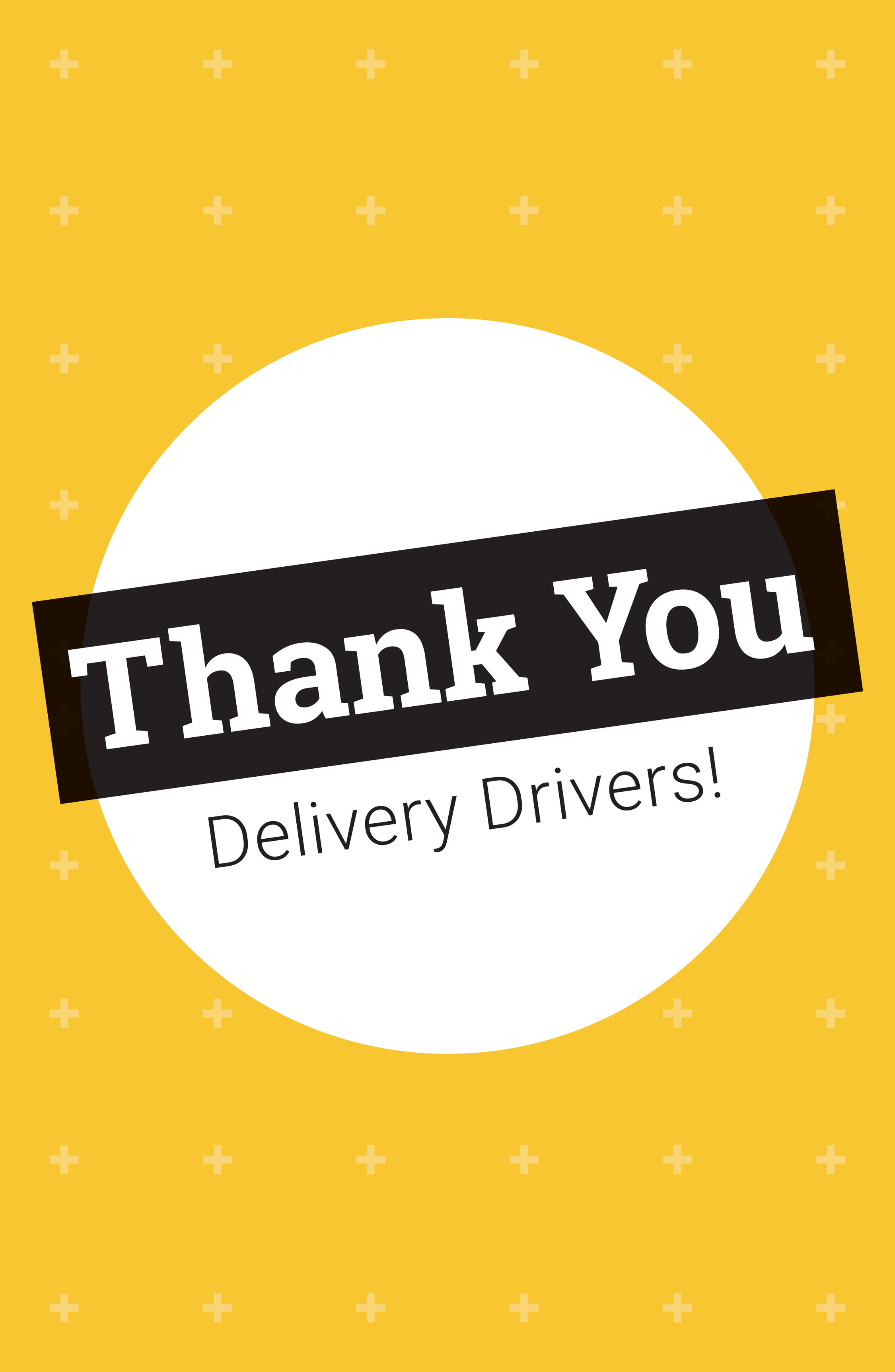 """11"""" x 17"""" Poster – Thank You Delivery Drivers"""