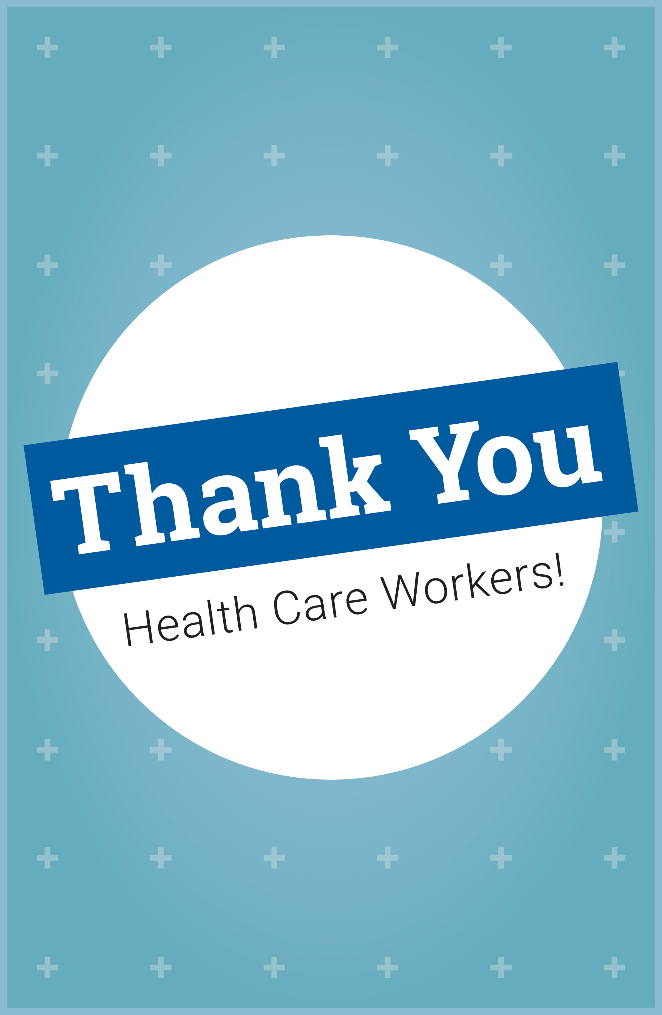 "11"" x 17"" Poster – Thank You Healthcare Workers"