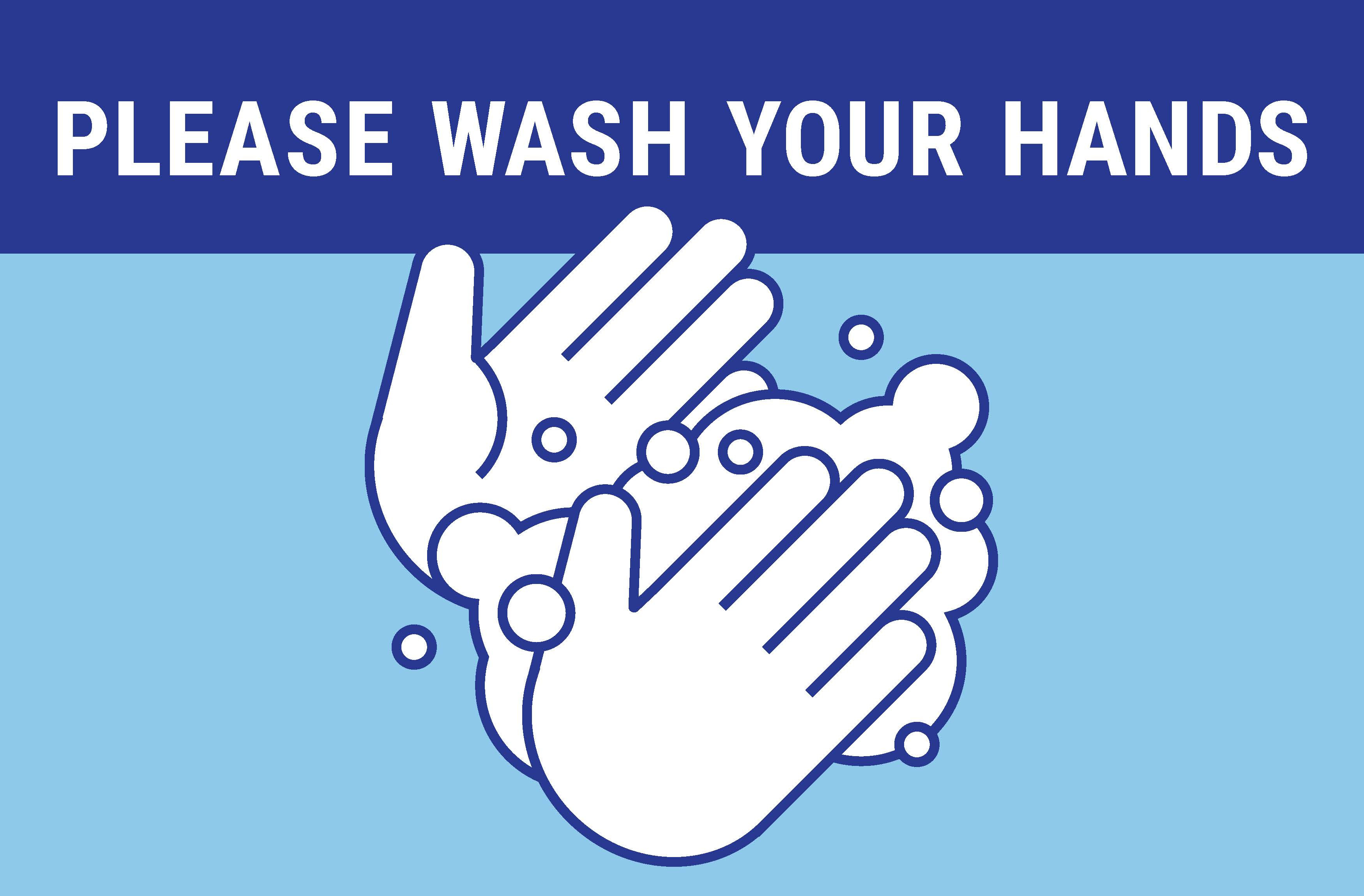 """24"""" x 18"""" Poster – """"Wash Your Hands"""""""