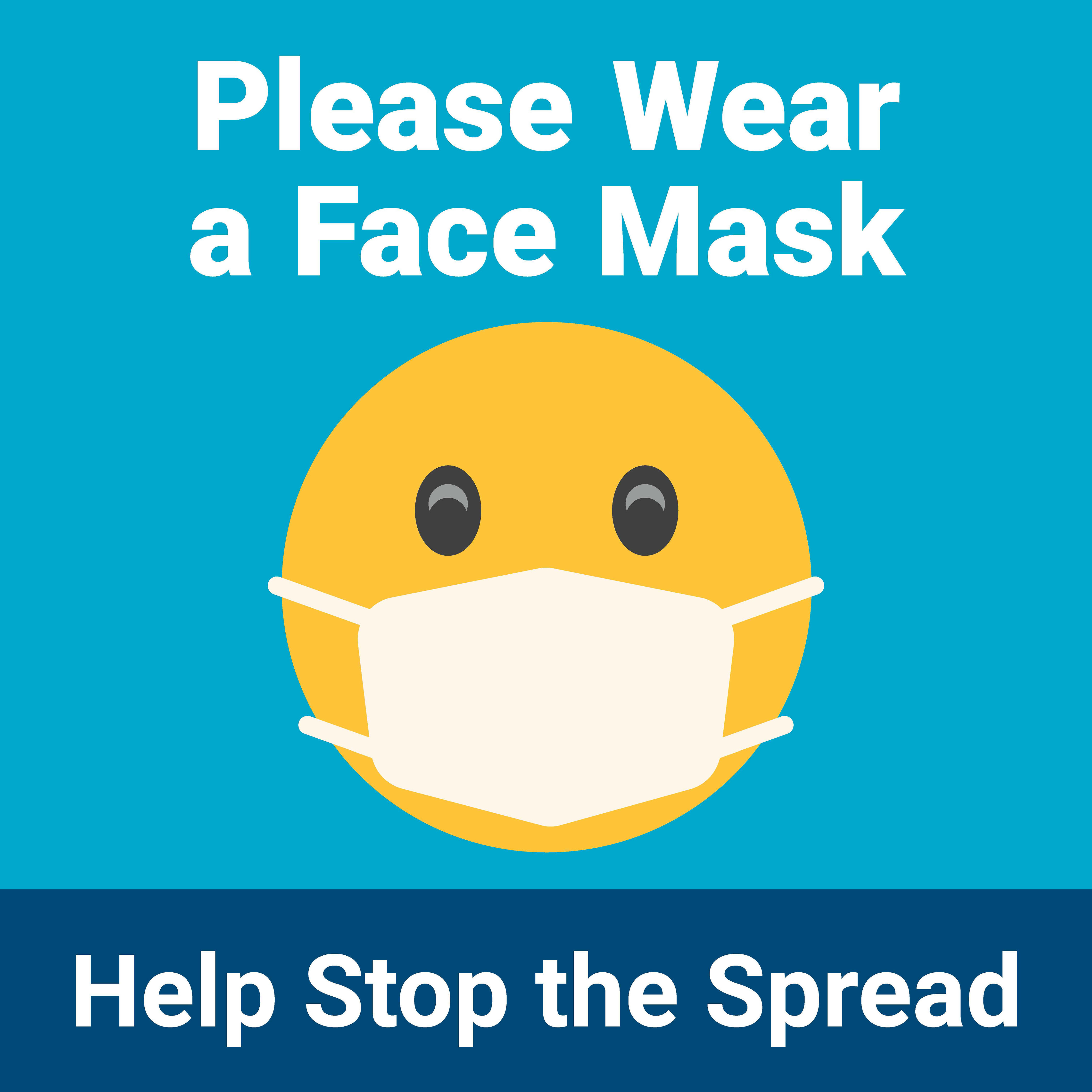 "30"" x 30"" Poster – Please Wear a Face Mask"