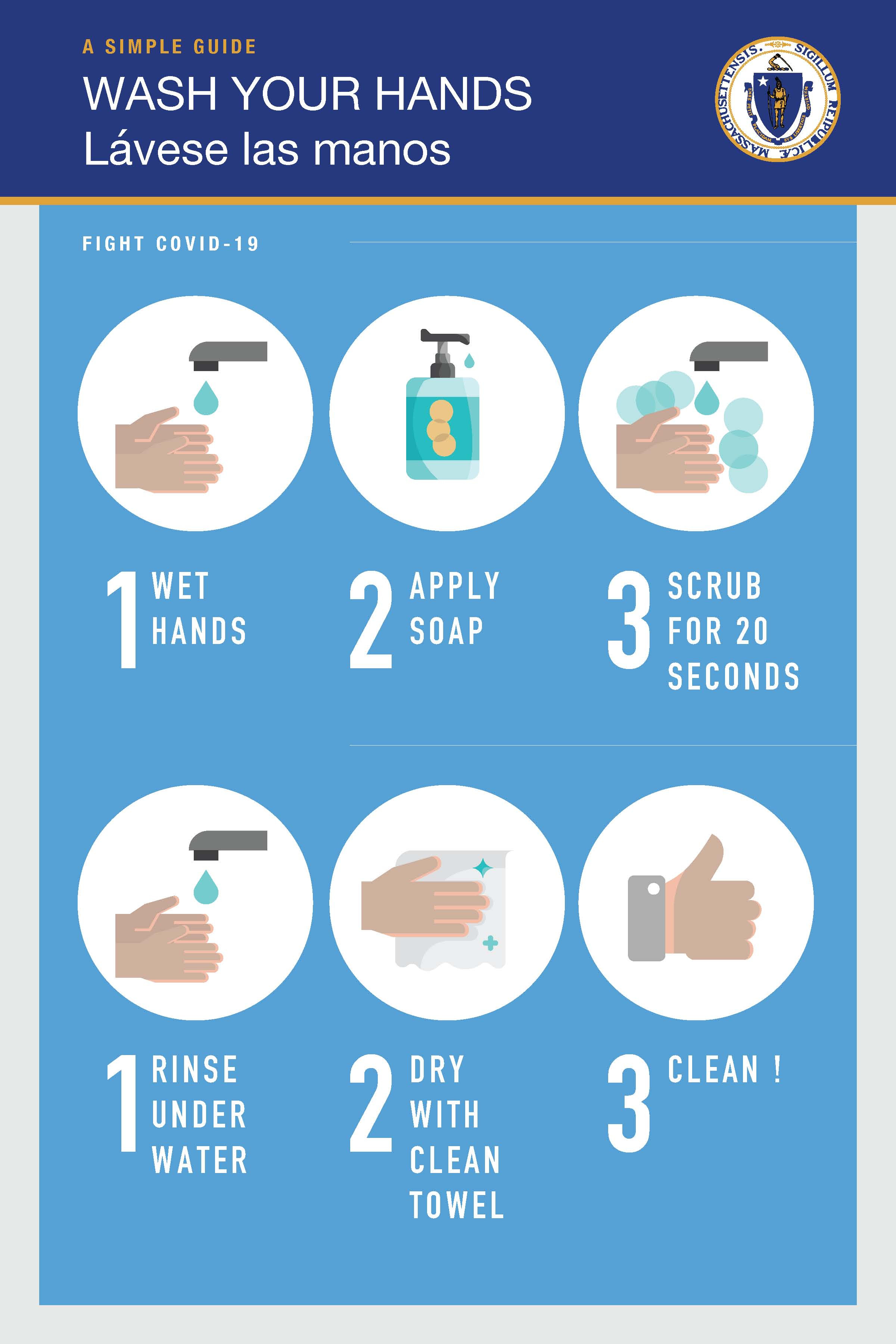 "12"" x 18"" Poster – ""Wash Your Hands"""