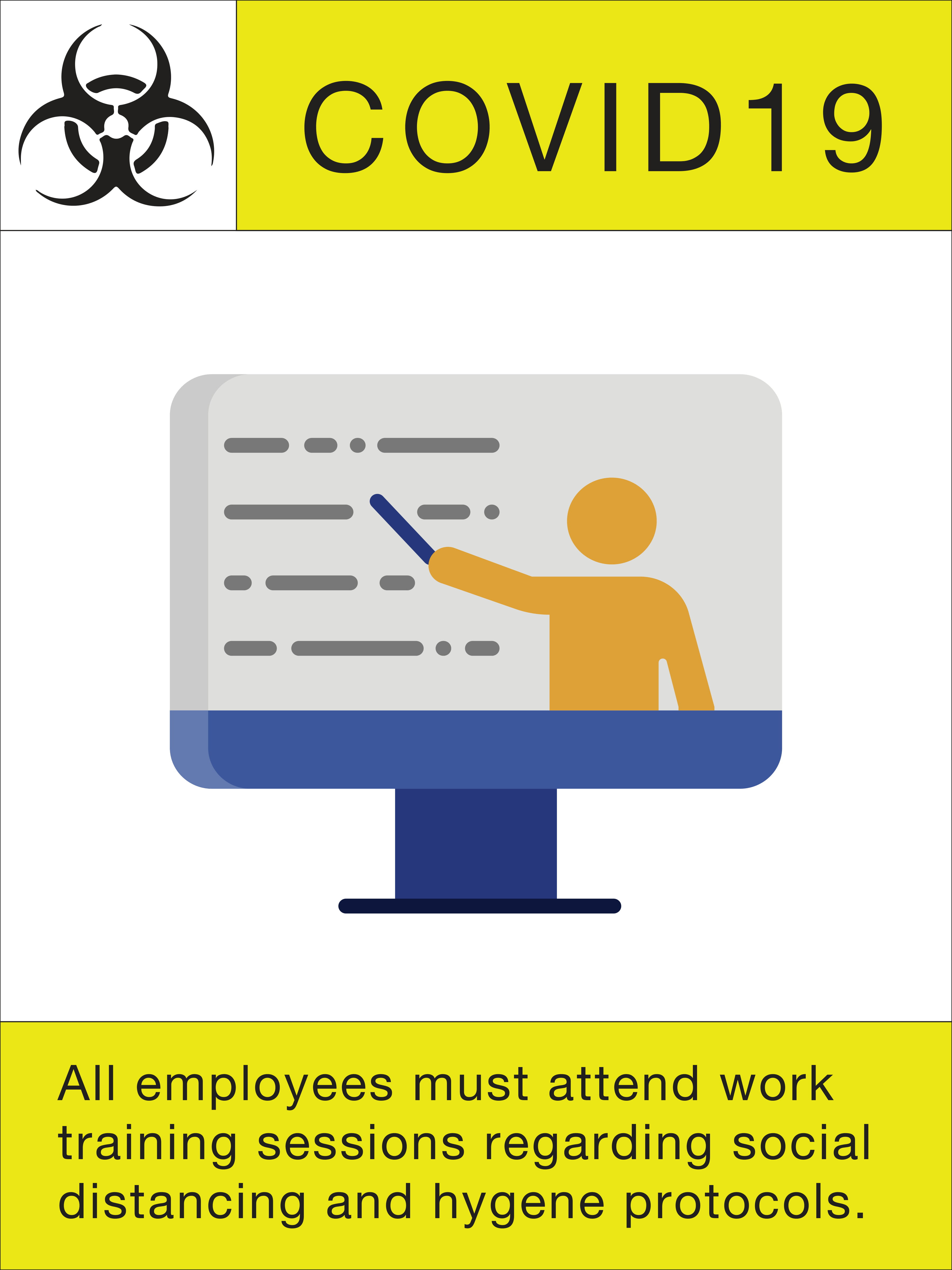 """24"""" x 18"""" Poster – """"All Employees Must Attend"""""""