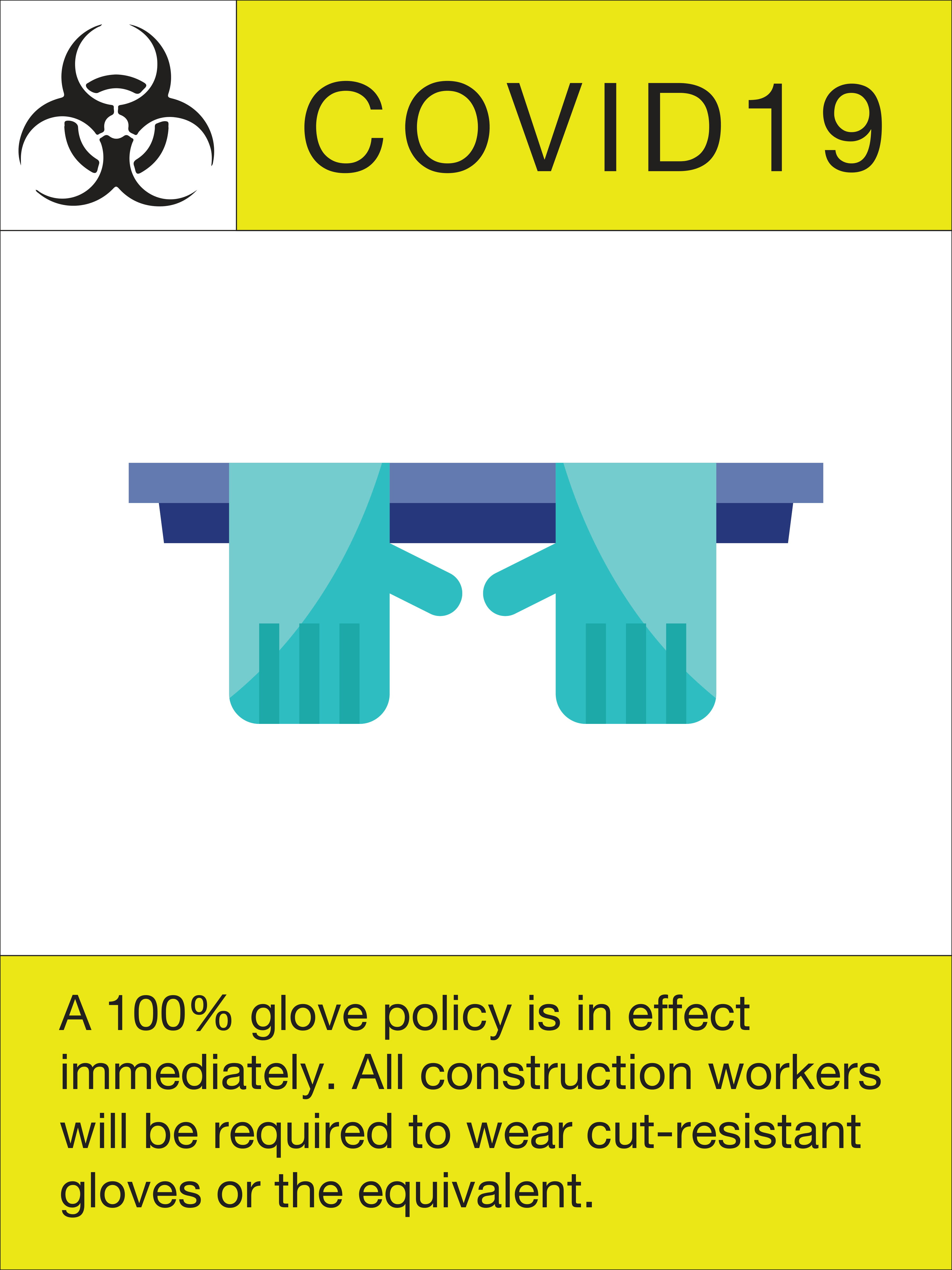 """24"""" x 18"""" Poster – """"100% Glove Policy"""""""