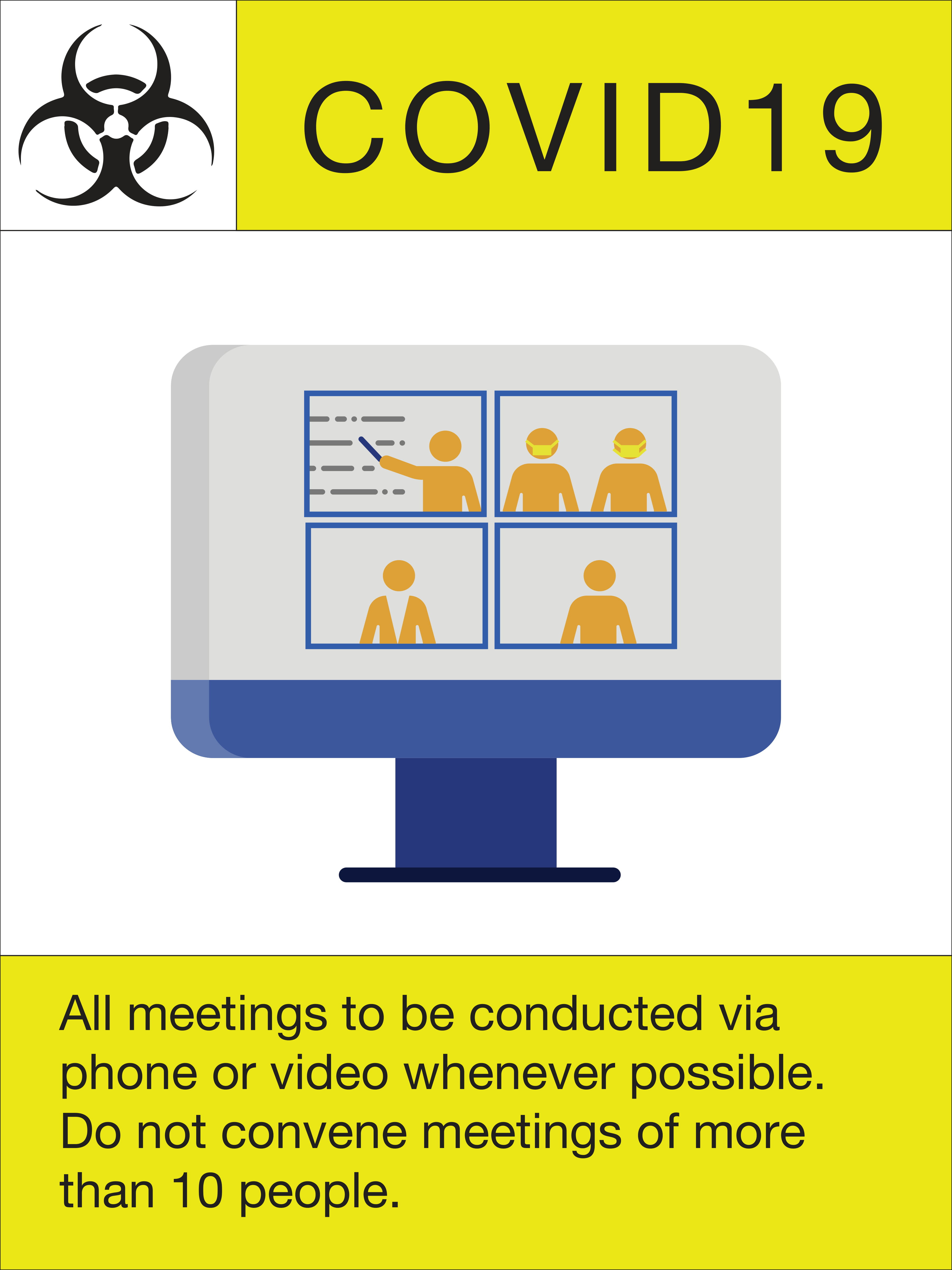 """24"""" x 18"""" Poster – """"Meeting Guidelines"""""""