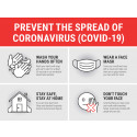 "24"" x 18"" Poster – ""Prevent the Spread"" Tips"
