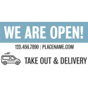 6' x 3' Customizable Banner – Open for Take Out
