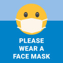 "30"" x 30"" Poster – ""Wear a Mask"""