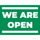 40'' x 30'' Banner – We're Open