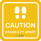 "18"" x 18"" Floor Graphic – Caution"