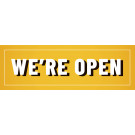 12' x 4' Banner – We're Open