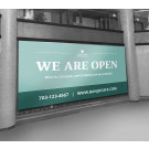 8' x 4' Customizable Banner – We Are Open