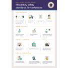 "36"" x 24"" Poster – ""Rules to Keep You Safe at Work"""