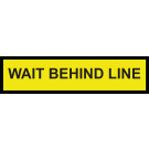 "18"" x 4.5"" Floor Graphic – Wait Behind Line"